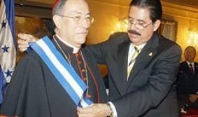 Zelaya y el cardenal Rodriguez