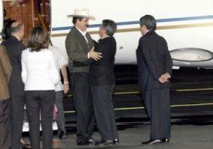 Zelaya y el presidente Calderón de México